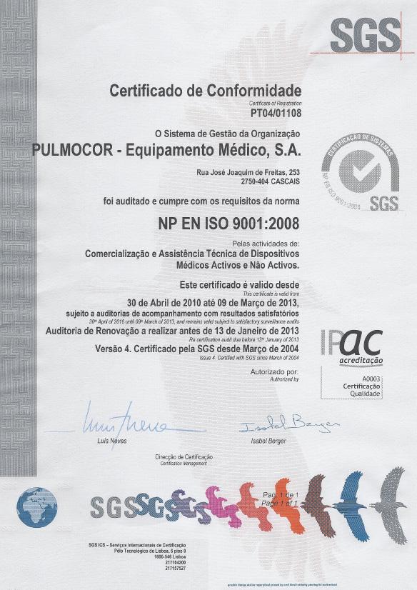 Certificado de Conformidade 2010-2013